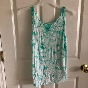 Mission Green And White Tye Die Tank Top